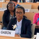 Le ministre de la Justice, Erlyne Antonela Ndembet-Damas, représentant le Gabon, à Genève, en Suisse, à la 43e session ordinaire du Conseil des droits de l'homme des Nations unies. © D.R.
