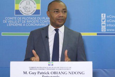 Dr Guy Patrick Obiang Ndong, porte-parole du Copil Coronavirus, annonce que le Gabon continuera «avec précaution» de traiter ses malades de Covid-19 avec de la chloroquine et son dérivé. © Copil