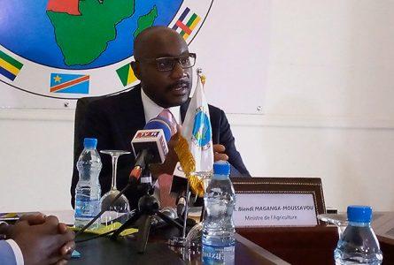 Biendi Maganga Moussavou s'exprimant le 29 octobre. © Gabonreview