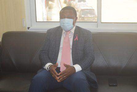 Fidèle Angoué Mba lors de son interview, le 27 octobre 2020 à Owendo. ©Gabonreview
