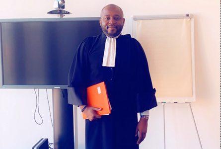 Le désormais Maitre Vivien Patrice Lloyd Amos Makaga Péa. © D.R.