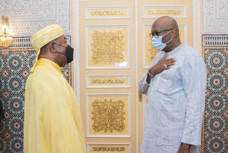 Ali Bongo et Roch Marc Christian Kaboré le 26 février à Libreville. © Twitter Ali Bongo