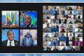 Moment de la réunion par visioconférence, le 30 mars 2021. © FAO-Afrique centrale
