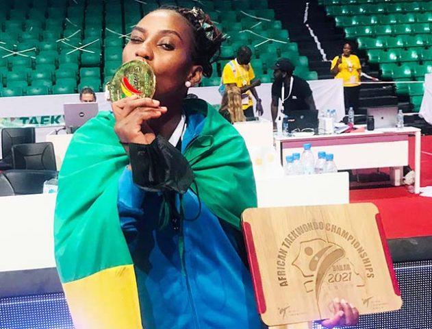 Taekwondo: Mouega emergence one step away from the roof of Africa |  Gabonreview.com