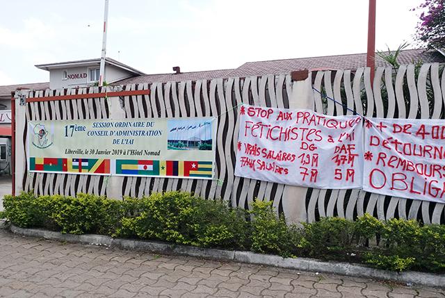 Les étudiants ont tenu à se faire entendre lors du Conseil d'administration. © Gabonreview