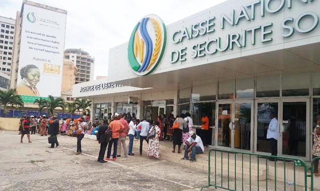 Le siège de la CNSS à Libreville. © D.R.