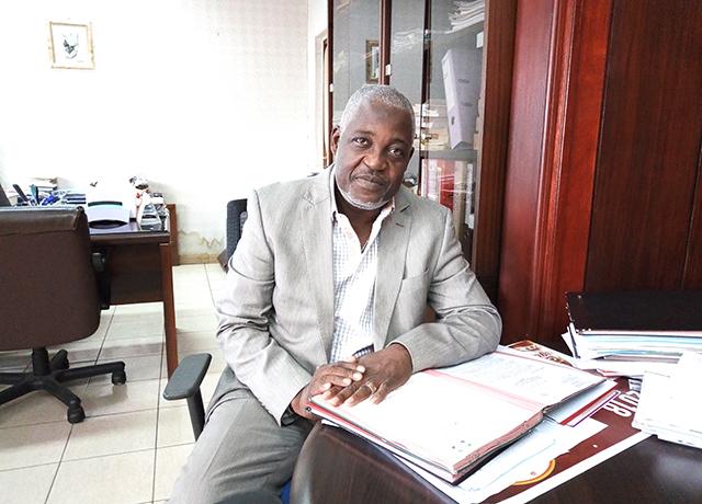 Claude Ahavi, directeur général de l'INPTIC, le 8 novembre 2018.© Gabonreview