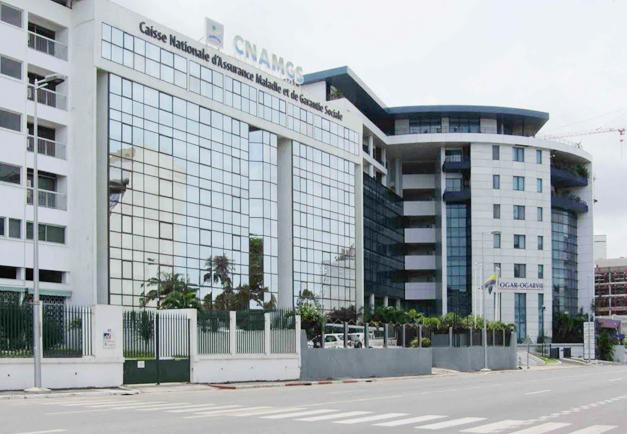 Vue du siège social de la CNAMGS à Libreville. © panoramio.com