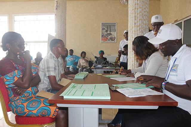 Lancement de la campagne d'immatriculation des GEF à Oyem, le 10 septembre 2018. © Gabonreview