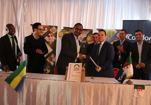 La cérémonie de signature des deux mémorandums d'entente. © D. R.