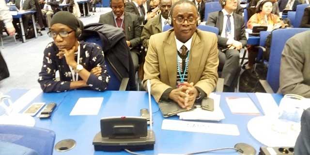 Dieudonné Odounga Awassi lors d'une précédente rencontre à Vienne en Autriche. © D.R.