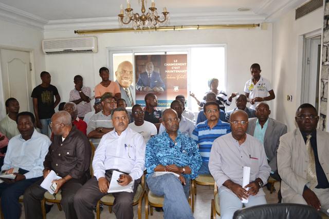 Quelques signataires de la déclaration. © Gabonreview
