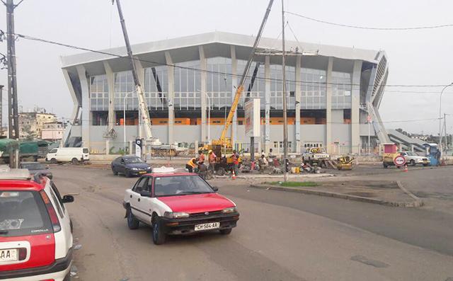 Vue extérieure du Palais des Sports dans le troisième arrondissement de Libreville, le 4 janvier 2018. © D.R.