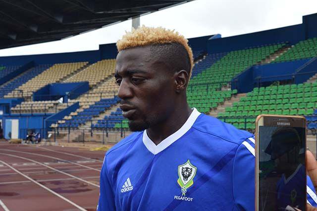 Axel Meye après la séance d'entrainement des Panthères, le 13 novembre 2017 à Franceville. © Gabonreview