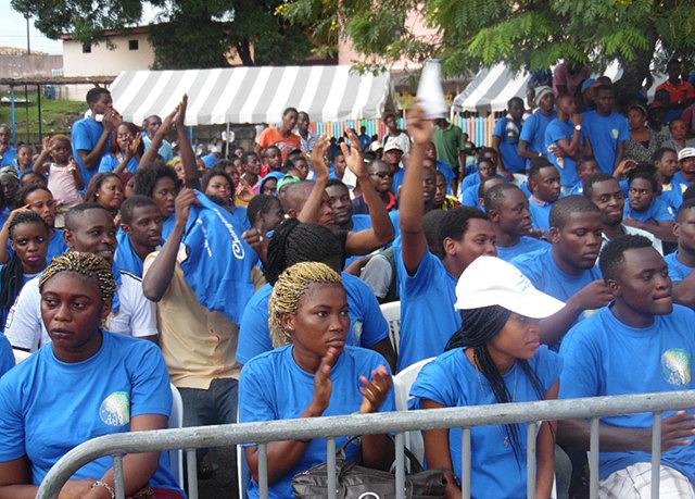Jeunes émergents, le 7 mai 2016 à Libreville. © Gabonreview