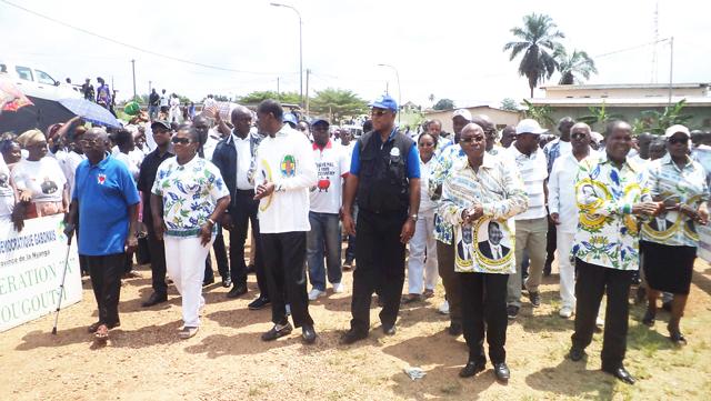 Scène de la marche de soutien à Ali Bongo, le 29 novembre 2014 à Tchibanga (Nyanga). © Gabonreview