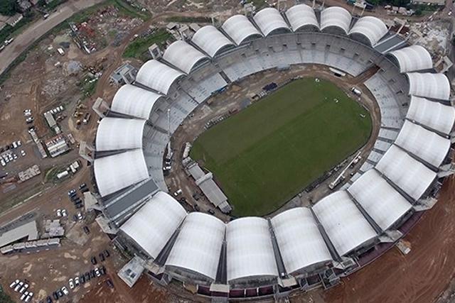 Vue aérienne du stade omnisports Omar Bongo. © D.R.