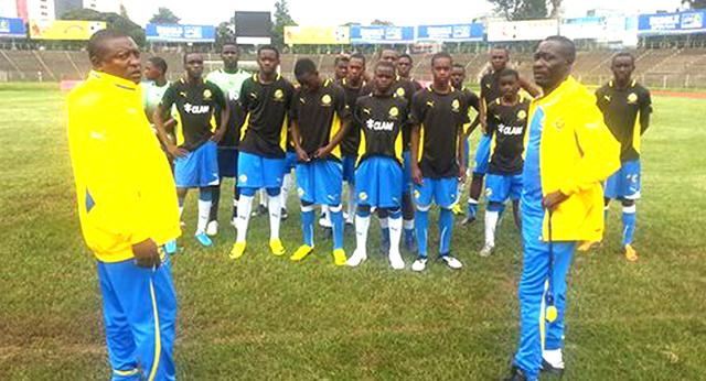 Les Panthères du Gabon U17. © D.R.