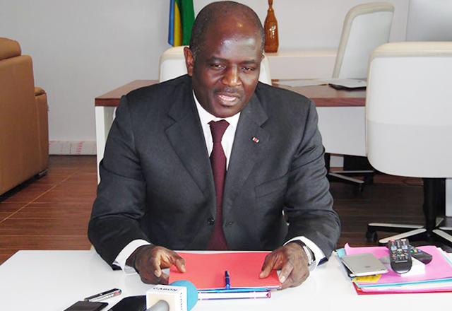 Régis Immongault, le 23 février 2015 à Libreville. © Gabonreview