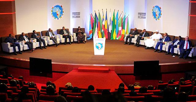 Les chefs d'Etat et de gouvernement de la CEEAC, lors d'une précédente réunion en 2016, à Libreville. © D.R.