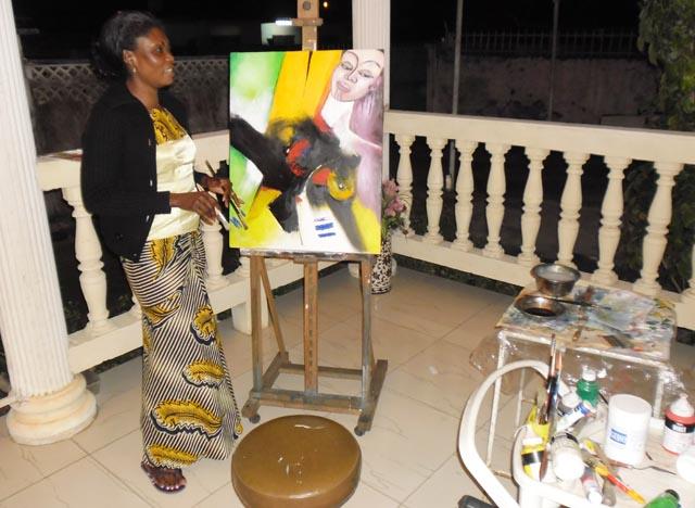Alice Siafro Minkoe Mi Nzé: «Être peintre et femme d'un peintre célèbre n'est pas facile»