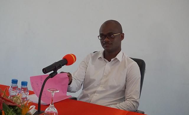 Le candidat du Parti démocratique gabonais (PDG), aux élections législatives à la commune de Bitam, dans la province du Woleu-Ntem, Tony Ondo Mba, le 1 septembre 2018. © Gabonreview