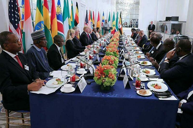 Le dîner offert par Donald Trump à 9 dirigeants seulement, le 20 septembre dernier à New York, en marge de la 72e AG de l'ONU. © D.R.