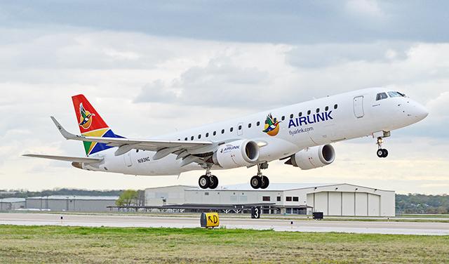 L'arrivée au Gabon des premiers Embraer de la South African Airlink est prévue avant la fin du premier trimestre 2019. ©TXVAGEEK