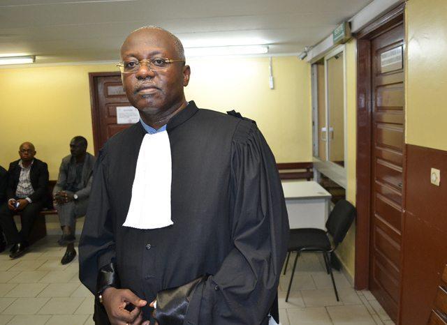 Me Jean-Paul Moubembe, le 5 janvier 2015 à Libreville. © Gabonreview
