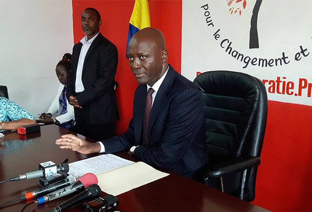 Bruno Ben Moubamba, président de l'ACR, le 10 juillet 2018, à Libreville. © D.R.