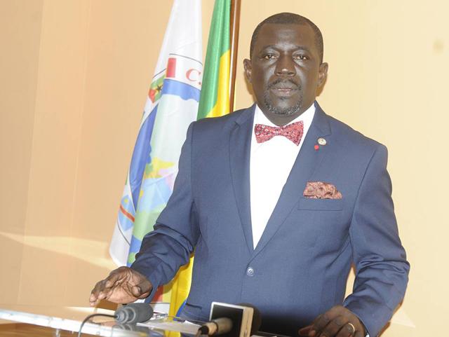 Nicaise Moulombi, président du Haut conseil des acteurs non étatiques. © D.R.