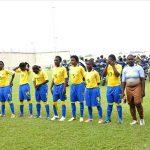 L'équipe des Panthères féminines du Gabon. © D.R.