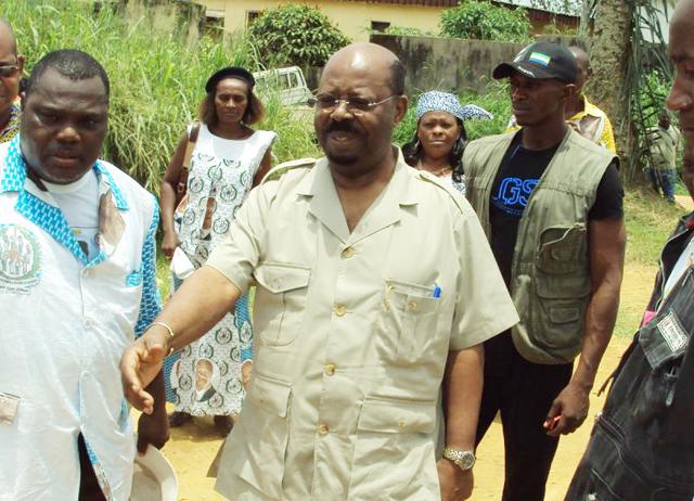 Paul Mba Abessole, président du RPG (archive). © mendzimesoso.com