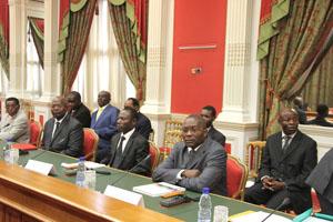 Consultation politiques à la présidence le 14 novembre 2012 - © Presse présidentielle
