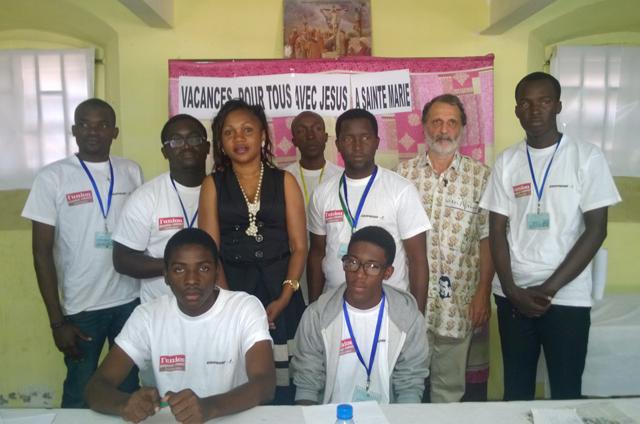 Les responsables du concept «Vacances pour tous avec Jésus». © Gabonreview